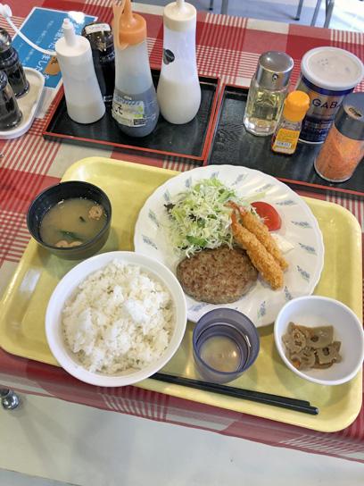 201120中央区職員食堂ハンバーグ海老フライ1.jpg